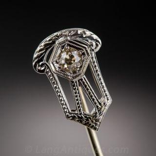 18k White Gold and Diamond Stickpin