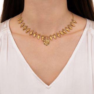 Antique Pinwheel Necklace