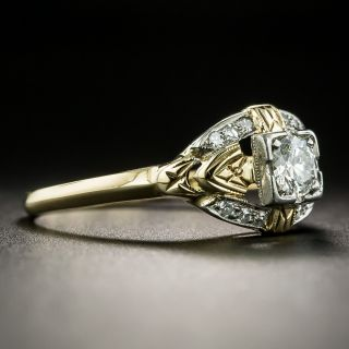 1940s Two-Tone .27 Carat Diamond Engagement Ring