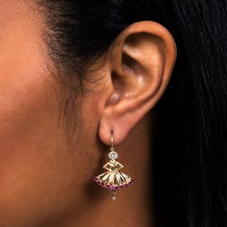 1940's Van Cleef & Arpels Ballerina Earrings
