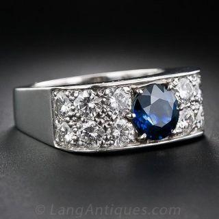 1960's Sapphire and Diamond Ring