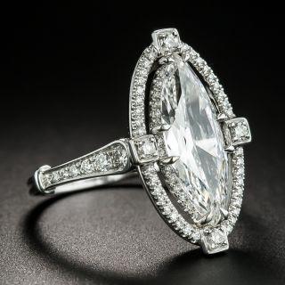 2.00 Carat Marquise Diamond Platinum Engagement Ring - GIA F VS1