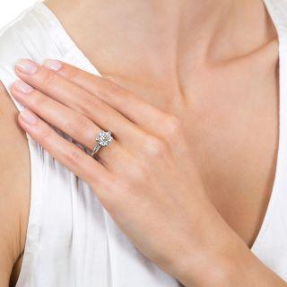 2.01 Carat European-Cut Diamond Platinum Engagement Ring - GIA G SI2