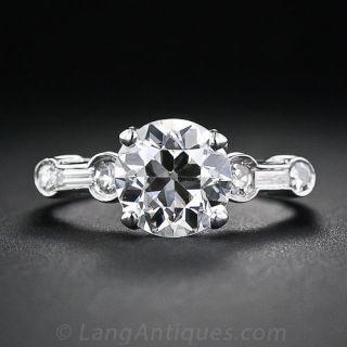 2.02 Carat Old European-Cut Diamond Solitaire  - 1
