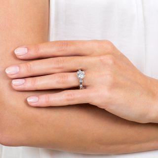 Vintage 2.02 Carat European-Cut Diamond Engagement Ring - GIA G SI1