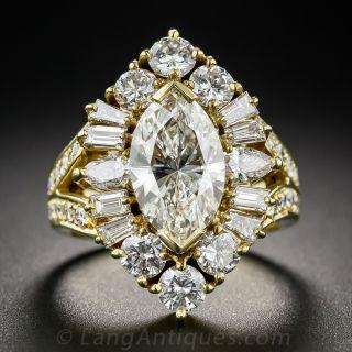 2.03 Carat Marquise Estate Diamond Ring