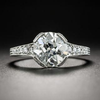 2.04 Carat European-Cut Diamond Vintage Style Engagement Ring - GIA I SI1 - 1
