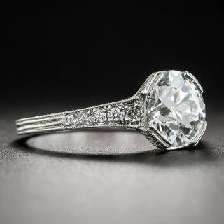 2.04 Carat European-Cut Diamond Vintage Style Engagement Ring - GIA I SI1