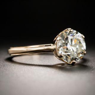 2.05 Carat Old European Cut Diamond Solitaire in 18K Rose Gold