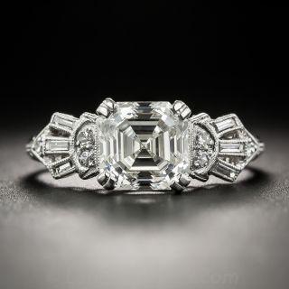 2.07 Carat Asscher Cut Diamond Ring - GIA K VS2