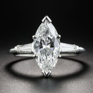 2.07  Marquise Diamond Engagement Ring - GIA D VS2