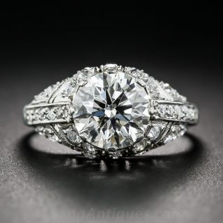 2.08 Carat Diamond Art Deco Style Ring - GIA - 1