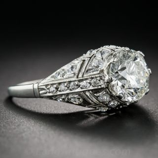 2.08 Carat Diamond Art Deco Style Ring - GIA