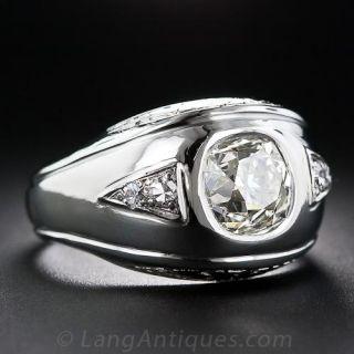 2.10 Carat Diamond Mid-Century Gent's Ring