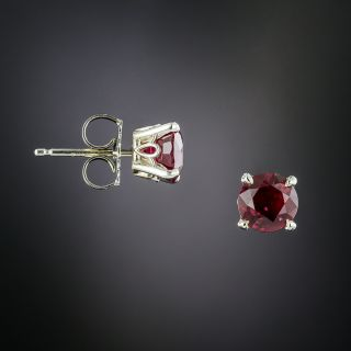 2.13 Carat Ruby Stud Earrings - 1
