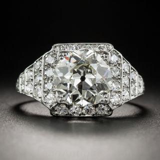 2.14 Carat Art Deco Platinum and Diamond Engagement Ring - GIA