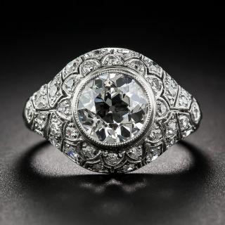 2.18 Carat European-Cut Diamond Ring - 1