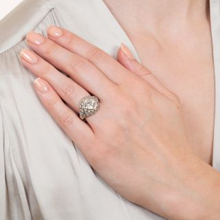 2.18 Carat European-Cut Diamond Ring