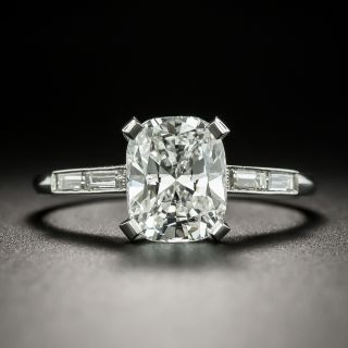 2.19 Carat Cushion-Cut Diamond Engagement Ring - GIA F VVS 2 - 2