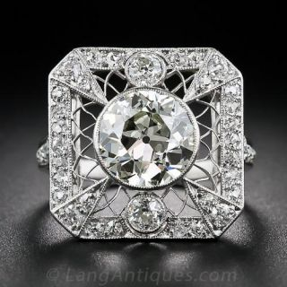 2.20 Carat Edwardian Diamond Ring - 1