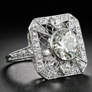 2.20 Carat Edwardian Diamond Ring