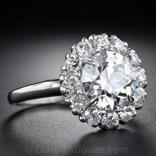 2.30 Carat European-Cut Antique Diamond Ring