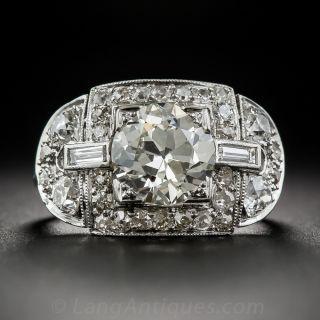 2.31 Carat Art Deco Engagement Ring - GIA - 1