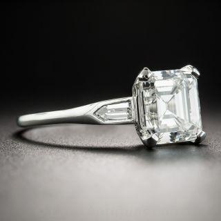 2.38 Carat Asscher-Cut Art Deco Diamond Engagement Ring - GIA  H VVS2