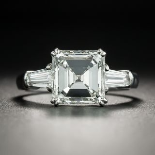 2.38 Carat Square Emerald Cut Diamond Engagement Ring - GIA J VS1 - 2