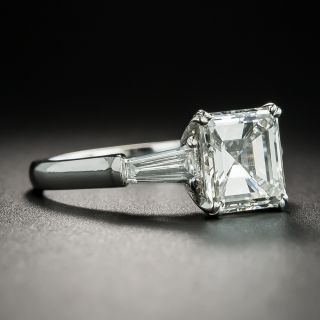 2.38 Carat Square Emerald Cut Diamond Engagement Ring - GIA J VS1