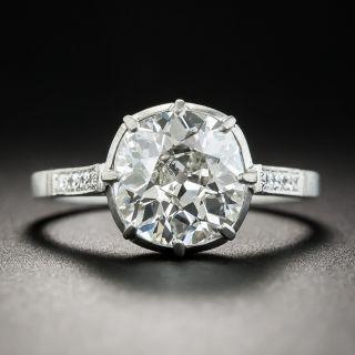 2.44 Carat Diamond and Platinum Vintage Style Engagement Ring - GIA I SI2 - 1
