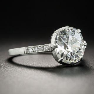 2.44 Carat Diamond and Platinum Vintage Style Engagement Ring - GIA I SI2