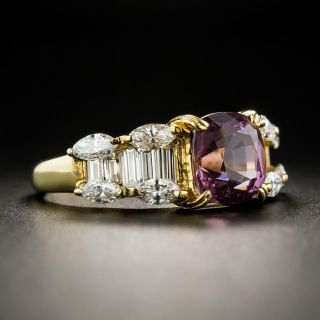 2.48 Carat Spinel and Diamond Ring