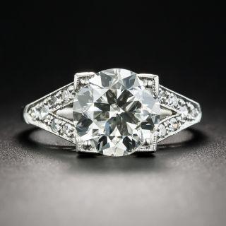 2.50 Carat Platinum Art Deco Diamond Engagement Ring - 1