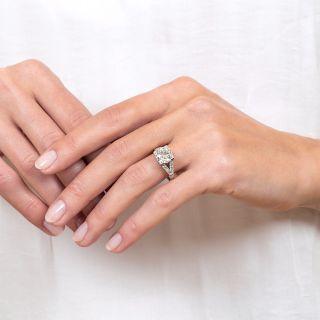 2.50 Carat Platinum Art Deco Diamond Engagement Ring