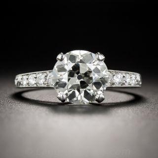 2.51 Carat European-Cut Diamond Ring - GIA M/VS2