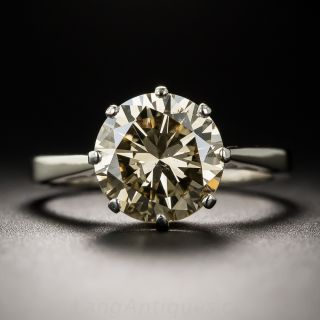 2.55 Carat Natural Fancy Brown Diamond Solitaire - GIA