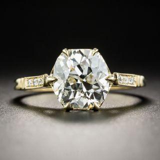 2.60 Carat Old Mine Cut Diamond Engagement Ring - Lang Vintage Inspired - 1