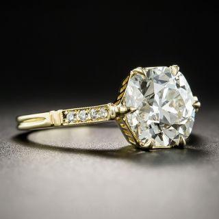 2.60 Carat Old Mine Cut Diamond Engagement Ring - Lang Vintage Inspired