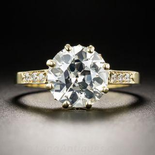 2.64 Carat Old European-Cut Engagement Diamond Ring - 1