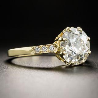 2.64 Carat Old European-Cut Engagement Diamond Ring