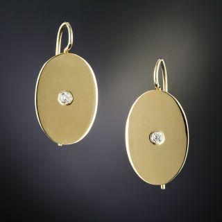 Victorian Oval Diamond Earrings  - 0
