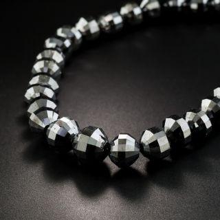 200 Carats Black Diamond Bead Necklace - 1
