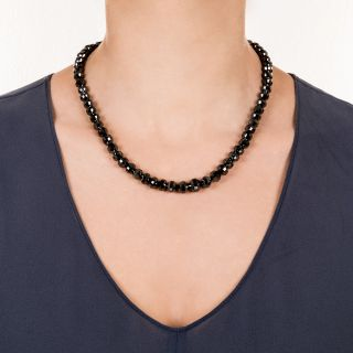 200 Carats Black Diamond Bead Necklace