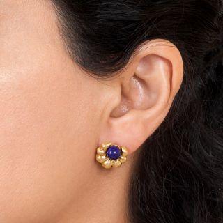 22K Lalaounis Lapis Earrings