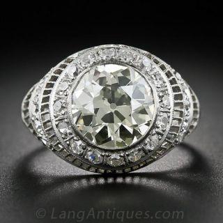 3.00 Carat Edwardian Platinum and Diamond Ring
