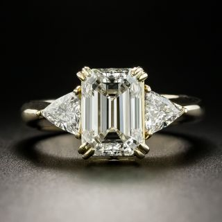 3.01 Carat Emerald-Cut Diamond Engagement Ring  - 1
