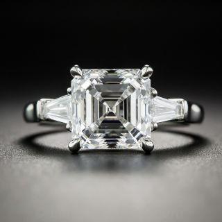 3.01 Carat Square Emerald-Cut Diamond Ring - GIA E/VS2 - 1