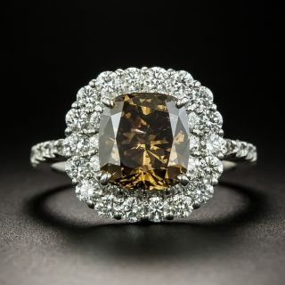 3.02 Carat Natural Fancy Dark Brown Diamond Ring - GIA - 1