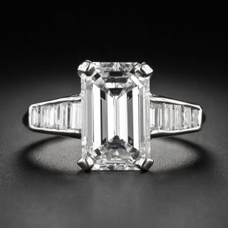 3.18 Carat Emerald-Cut Diamond Ring - GIA H VS1 - 1